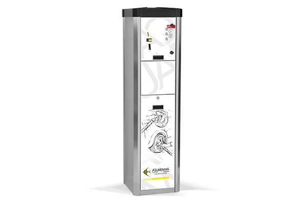 Top line dispenser for two products  Aquarama